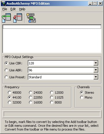 AudioAlchemy MP3 Edition Screenshot