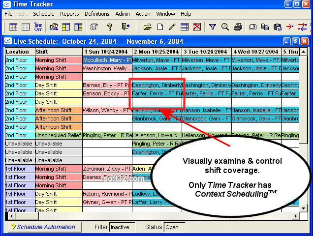Time Tracker Scheduling Software Screenshot 2