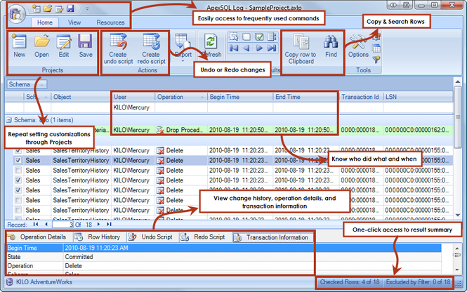 Apex SQL Log Screenshot 3