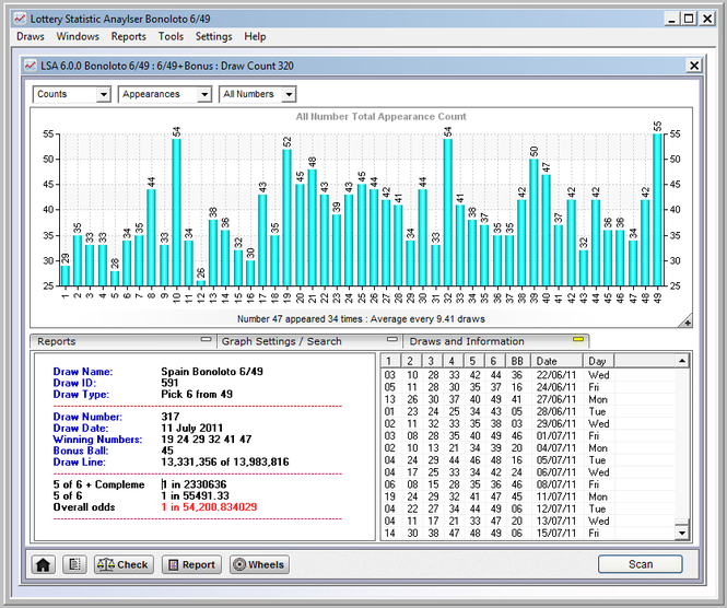 Lottery Statistic Analyser Screenshot 1