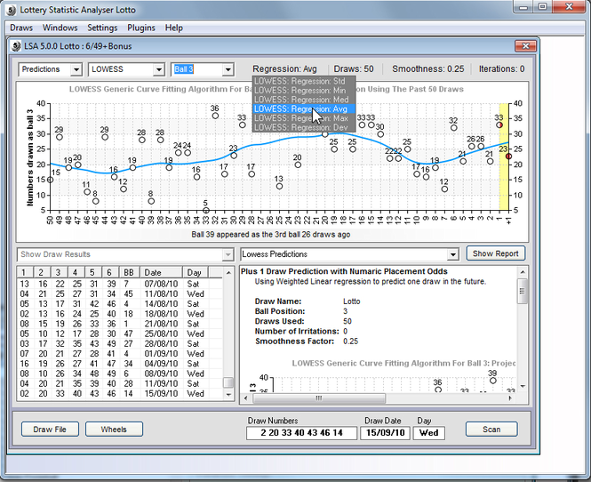 Lottery Statistic Analyser Screenshot 2