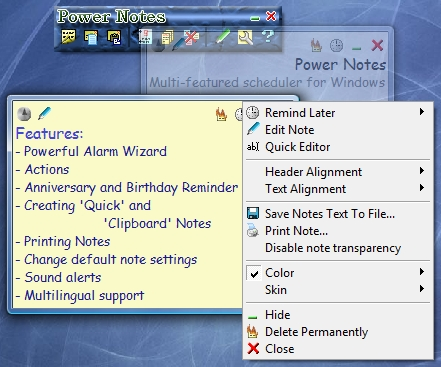 Power Notes Screenshot 1