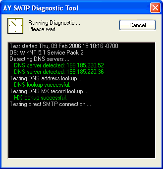 SMTP Diagnostic Tool Screenshot