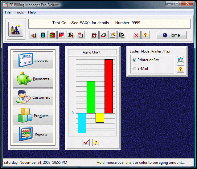 FF Billing Manager Pro Deluxe Screenshot