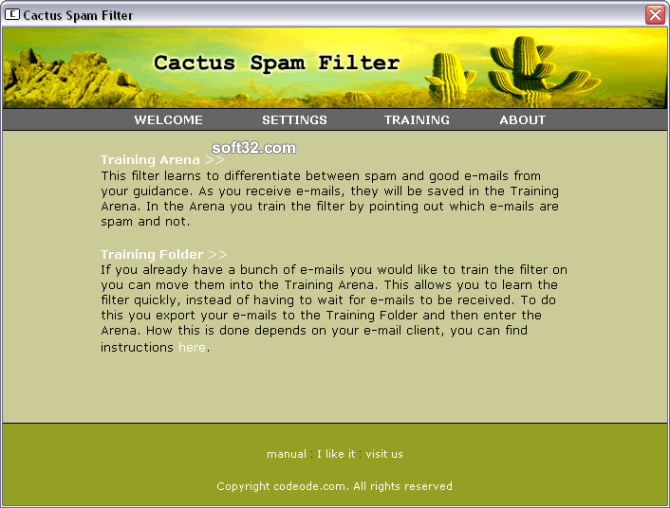 Cactus Spam Filter Screenshot 3