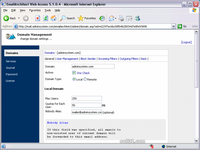 Emailarchitect Email Server Screenshot 2