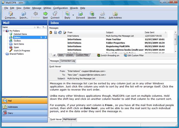 MailCOPA Email Client Screenshot 1