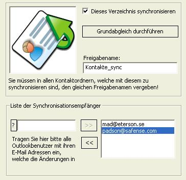 OLContactSync Screenshot
