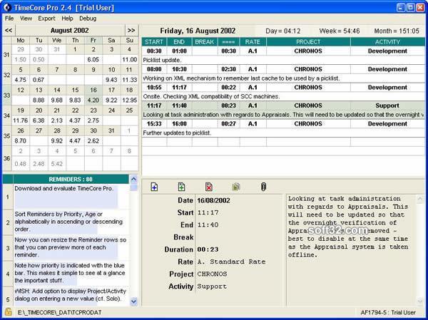 TimeCore Pro Screenshot 1