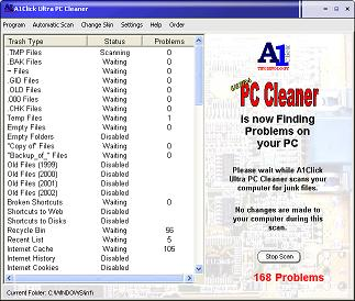 A1Click Ultra PC Cleaner Screenshot