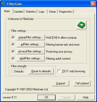 FilterGate Screenshot