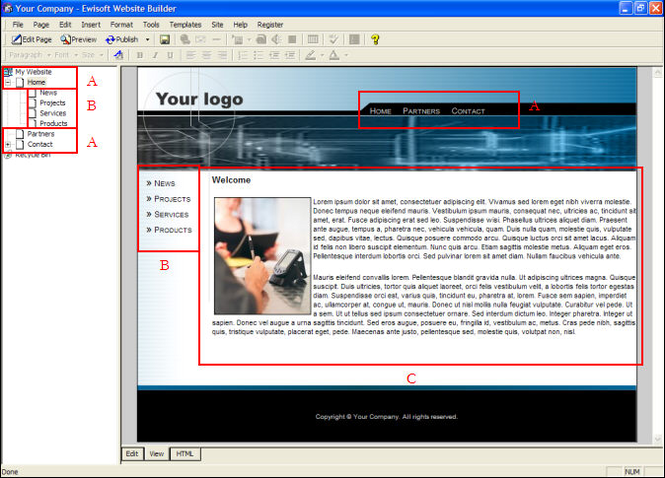 Ewisoft Website Builder Screenshot 1