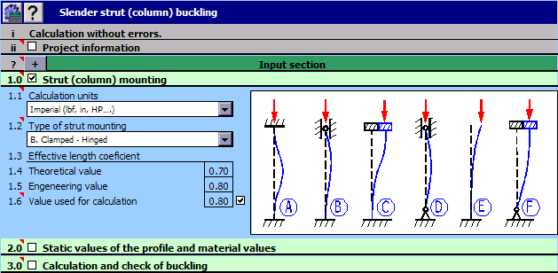 MITCalc - Buckling Calculation Screenshot