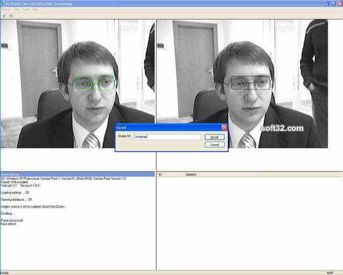 VeriLook algorithm demo for MS Windows Screenshot 2