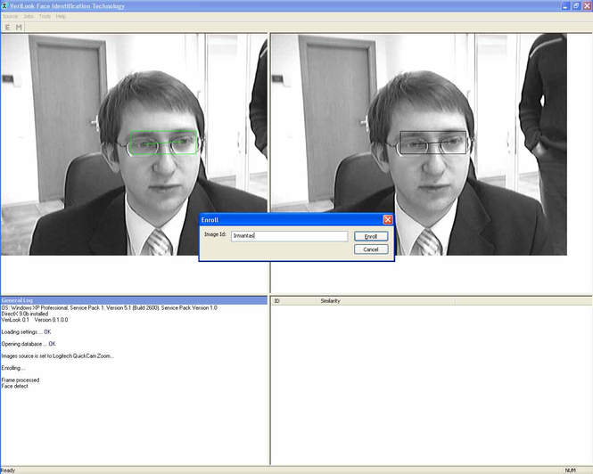 VeriLook algorithm demo for MS Windows Screenshot