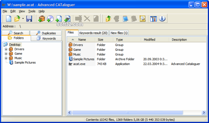 Advanced CATaloguer Screenshot 3