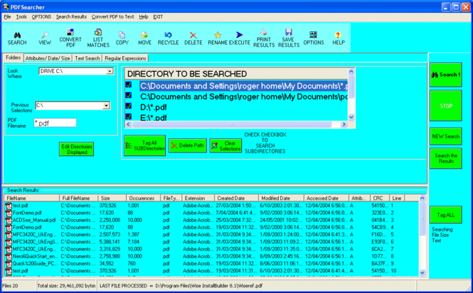 PDF Searcher Screenshot 1