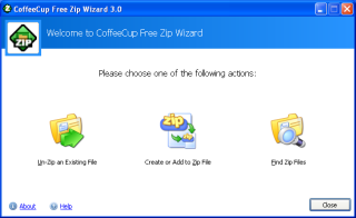 CoffeeCup Free Zip Wizard Screenshot