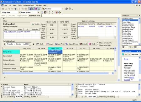 TimeCurve Scheduler Screenshot 1