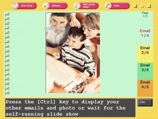 A FamilyMail Email Program Screenshot