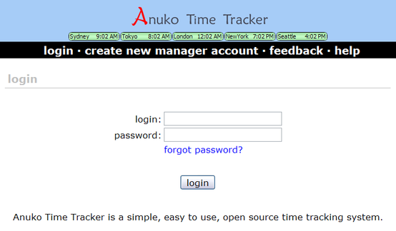 Anuko Time Tracker Screenshot 2