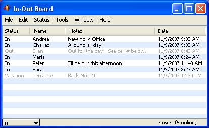 In-Out Board Screenshot 2