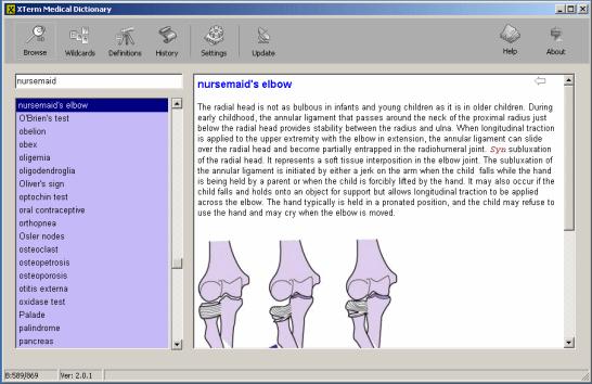 XTerm Medical Dictionary Screenshot