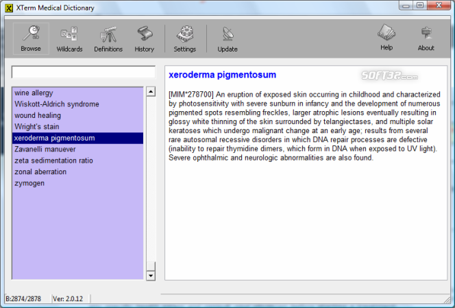 XTerm Medical Dictionary Screenshot 3