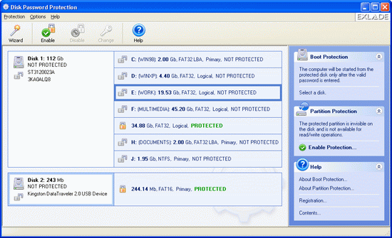 Disk Password Protection Screenshot