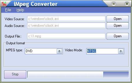iMpeg Converter Screenshot 1