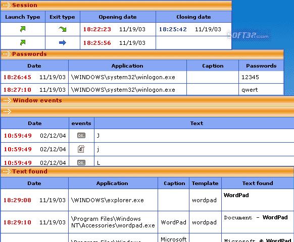 PC Activity Monitor Standard Screenshot 2