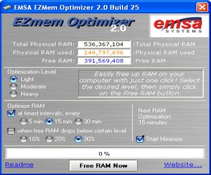 EZMem Optimizer Screenshot 1