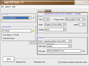 Magic DVD Ripper Screenshot 2