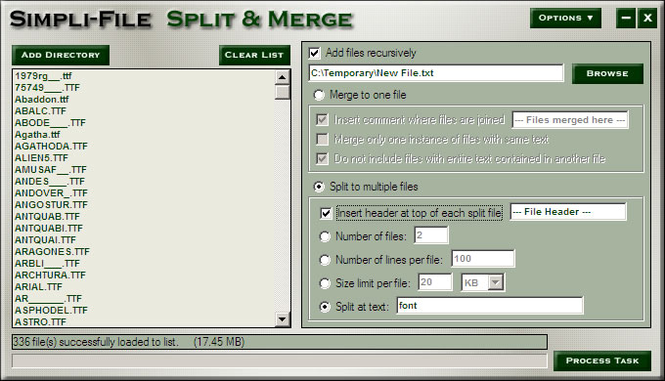 Simpli-File Split and Merge Screenshot