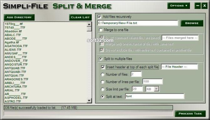 Simpli-File Split and Merge Screenshot 2