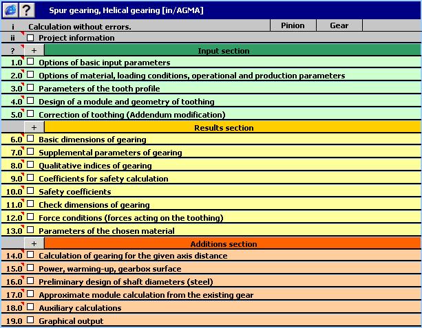 MITCalc - Spur Gear Calculation Screenshot 1
