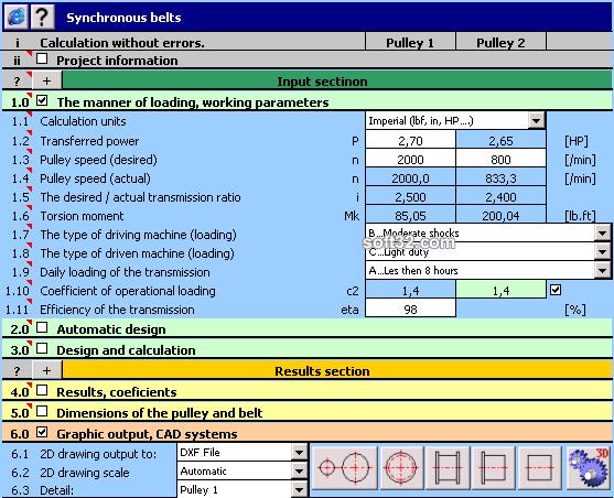 MITCalc - Timing Belts Calculation Screenshot 3