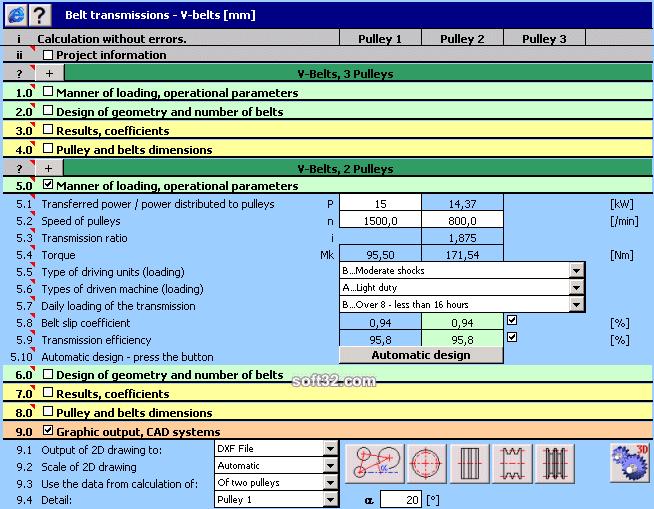 MITCalc - V-Belts Calculation Screenshot 3