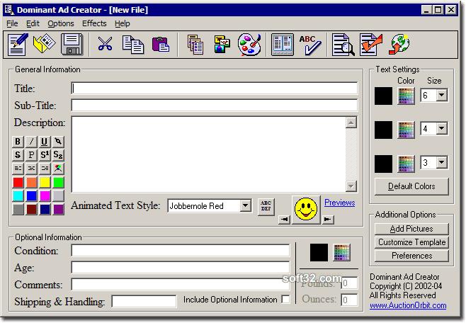 Dominant Ad Creator Screenshot