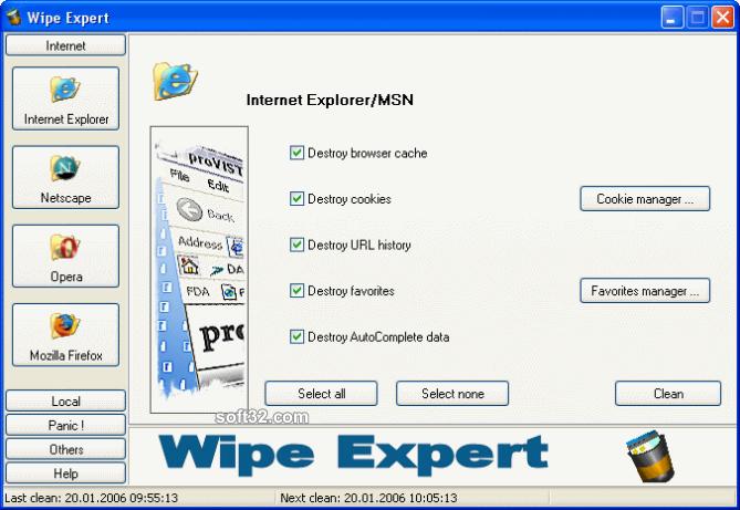 Wipe Expert Screenshot 2