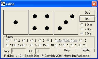 IP Electronic Dice Screenshot 2