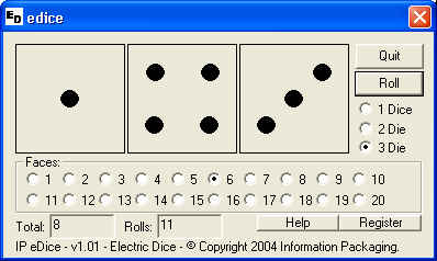 IP Electronic Dice Screenshot 1