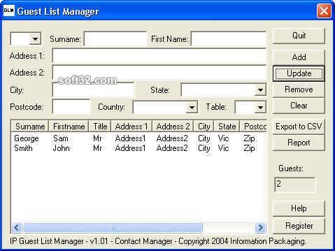 IP Guest List Manager Screenshot 2