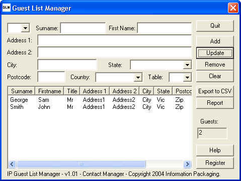 IP Guest List Manager Screenshot