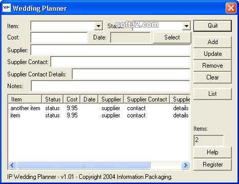IP Wedding Planner Screenshot 2
