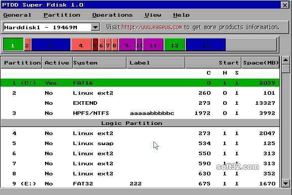 Super Fdisk Screenshot 2