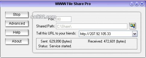 WWW File Share Pro Screenshot 2