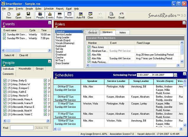 SmartRoster Screenshot 3