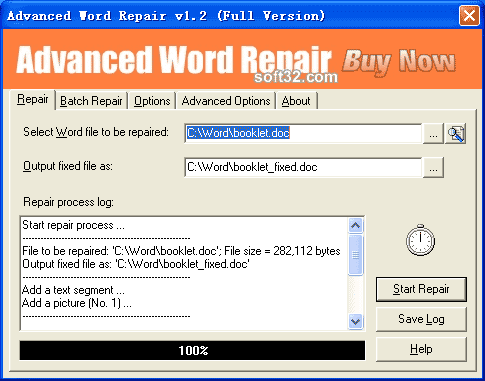 Advanced Word Repair Screenshot 3