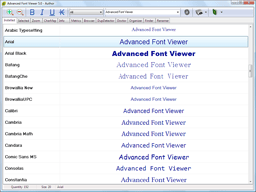 Advanced Font Viewer Screenshot